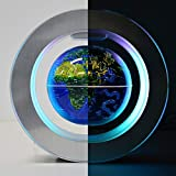 YANGHX Magnetic Levitation Floating World Map With Constellations LED Light Globe 2 in 1 Anti Gravity Suspending In The Air Decoration Gadget Children's GIFT ( Blue 6 inch )