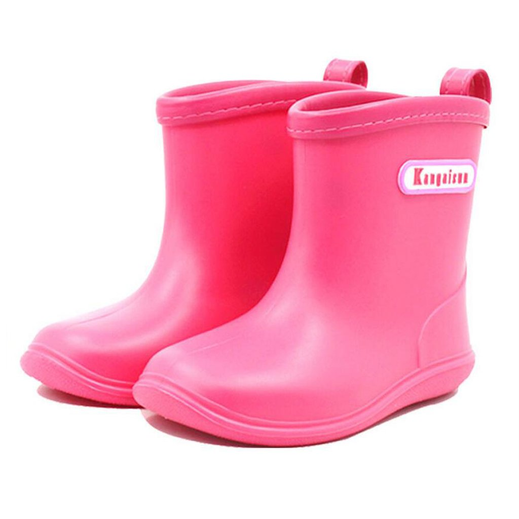 Kids Rubber Rain Boots Baby Wellington Snow Boots Wellies Waterproof Shoes