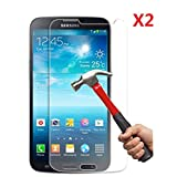 EVERMARKET Premium Tempered Glass 9H-Hardness Screen Protector Flim for Samsung Galaxy Mega 6.3 i9200 - 2 Packs