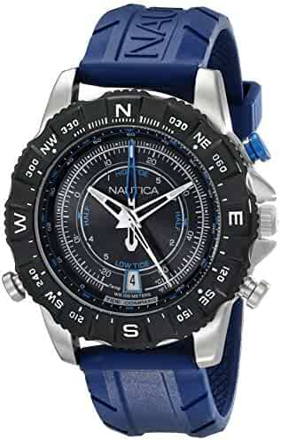 Nautica Men's NAD20005G NSR 103 Stainless Steel Watch with Blue Band