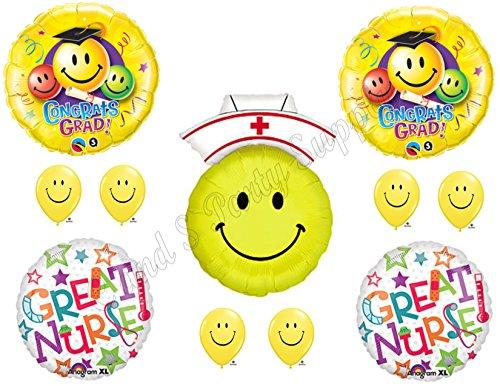 Great Nursing Nurse Graduation Pinning Celebration Balloon Decorations Supplies Bouquet kit (Nurse Party Decorations)