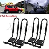 NBX- 2 Pairs Kayak Carrier Boat SUV Canoe Surf Ski Snowboard Roof Mount J-Bar Rack