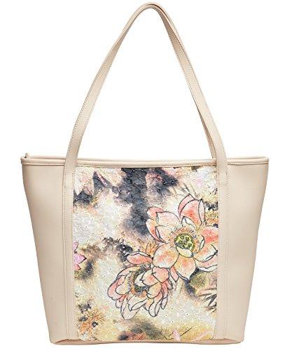 Joe Browns Womens Floral Printed Tote Bag Cream One ()