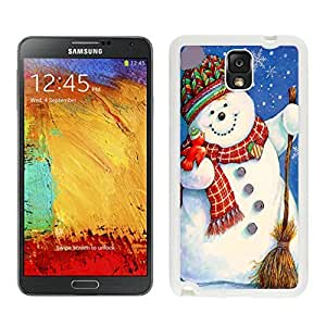 Galaxy Note 3 Case,Red Scarf Snowman Black TPU Note 3 Case-Christmas Series Samsung Note 3 Case