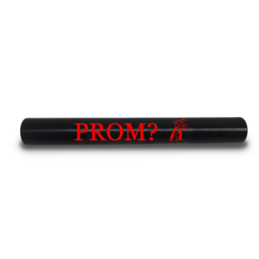 Hat Shark PROM? Prom High school dance Custom Black Aluminum Track and Field Relay Baton Personalized Gift Printed in Full Color
