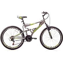 Merax Falcon Full Suspension Mountain Bike Aluminum Frame 21-Speed 26-inch Bicycle