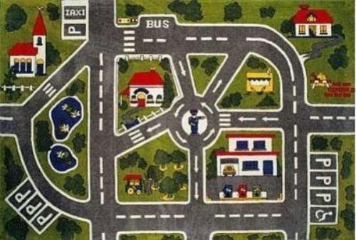 LA Rug Streets Rug 5 3 x7 6