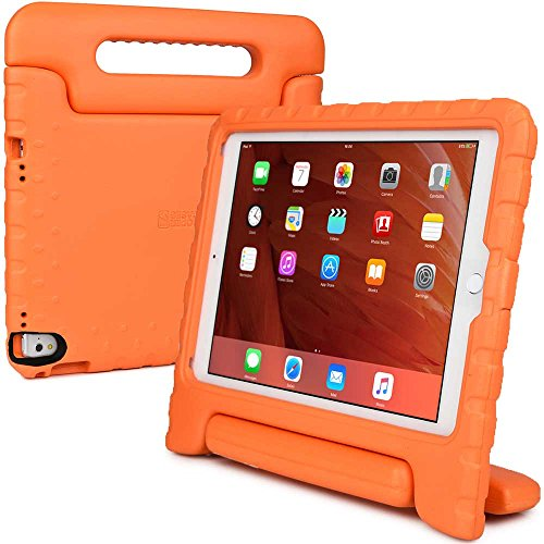 Apple iPad Pro 9.7 / iPad Air 2 kids case, [2-in-1 Bulky Handle: Carry & Stand] COOPER DYNAMO Rugged Heavy Duty Children's Cover + Handle, Stand & Screen Protector - Boys Girls Elderly (Orange)