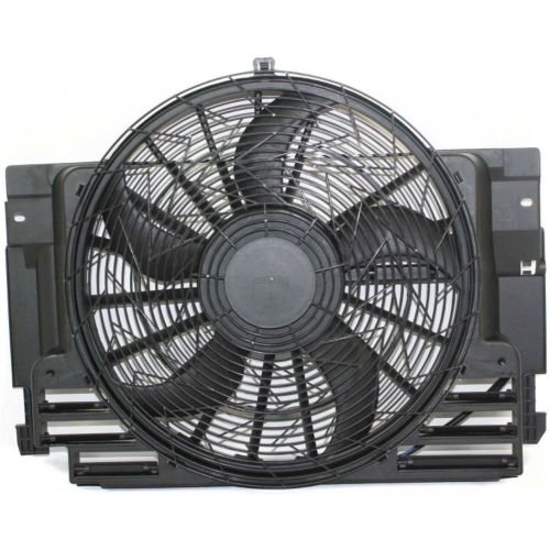 Perfect Fit Group REPB190904 - X5 A/ C Fan Shroud Assembly, Dc:12V, Universal:465Mm, W/ Control Module And Brushless