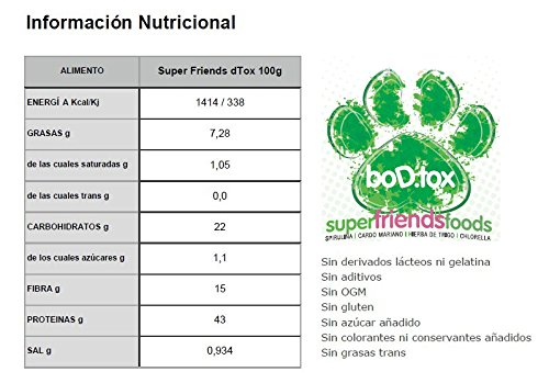 Energy Feelings Superfriends Foods Detox, Cubo - 400 gr