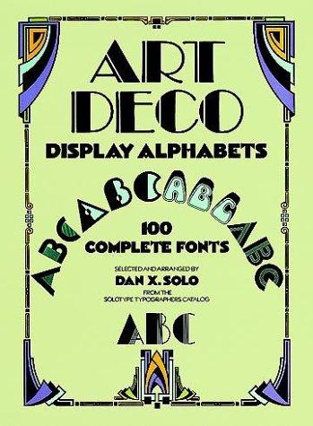 Art Deco Display Alphabets (Dover Pictorial Archive - Art Deco Lettering
