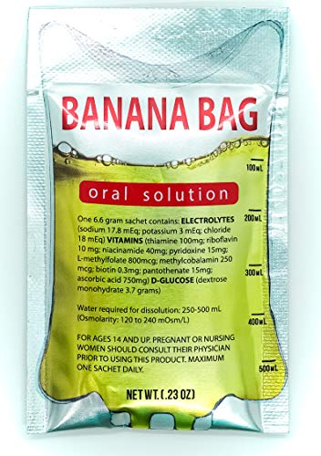(Banana Bag Oral Solution: Electrolyte & Vitamin Powder Packet for Reconstitution in Water to Drink(5))