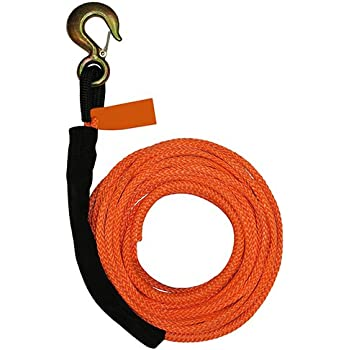 Synthetic 30 Width B//A Products 4-RE71675 Winch Line 3T Hook 3 Height 7//16 x 75 12 Length
