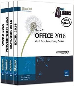 Pack 4 Libros: Word, Excel, Powerpoint Y Outlook. Microsoft Office ...
