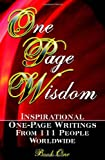 One Page Wisdom. Book 1, New Age Directories Staff, 0980645204