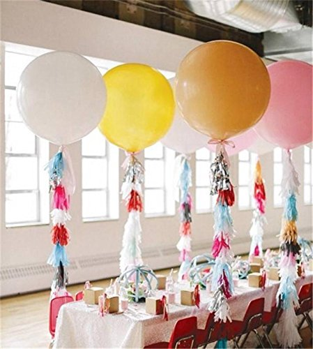 Elecrainbow 36 Inch Balloons Clear Giant Balloons Oval