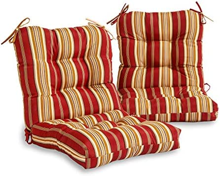 South Pine Porch AM6815S2-ROMASTRIPE Roma Stripe Outdoor Seat/Back Chair Cushion
