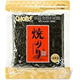 Daechun(Choi's1) Sushi Nori (50 Full Sheets), Resealable, Gold Grade, Product of Korea