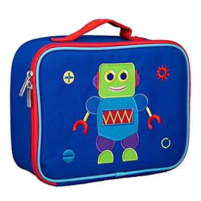 Wildkin Kids Insulated Embroidered Lunch Box for Boys and Girls, Perfect Size for Packing Hot or Cold Snacks for School and Travel, Measures 10 x7.5 x 4 Inches, BPA-Free, Olive Kids (Robot): Toys & Games