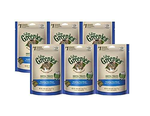 Greenies Feline Dental Treats Tempting Tuna 6 - 2.1 oz packages