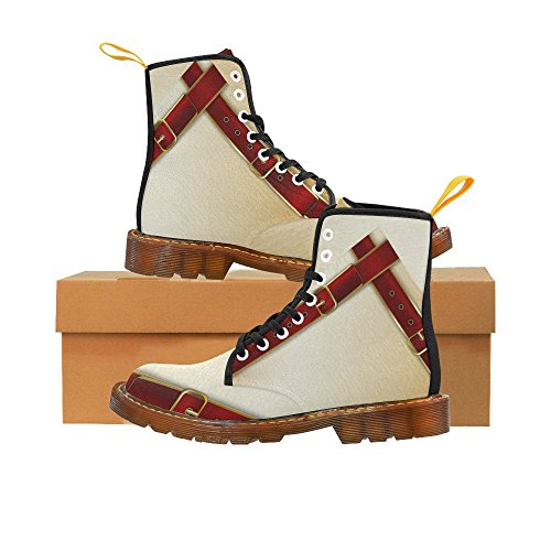 InterestPrint Belts with buckles Print Lace Up Boots For Women vIHreZ