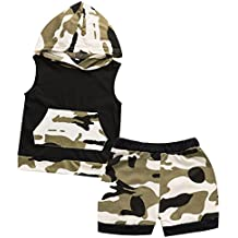 iCrazy Baby Boys' Camouflage Hoodie + Pants Outfits Set Clothes