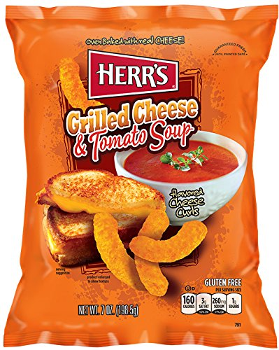 Herr's Grilled Cheese & Tomato Soup Curls, 7 Ounce
