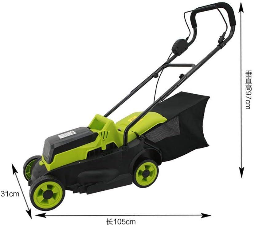 Empuje cortadora de césped eléctrica 1600W cortacésped, corte de 30 cm Ancho, 3 Palanca de la altura de corte, la caja de hierba 25L, Mango plegable, 10m cable de alimentación césped pequeño hogar cor