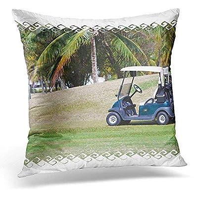 Throw Pillow Cover Golf Cart Decorative Pillow Case Home Decor Square 18x18 Inches Pillowcase