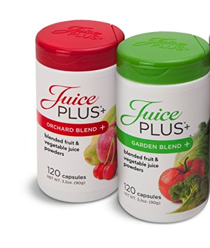 Juice Plus+ Orchard Blend & Garden Blend Capsules 3.2 oz. (1 Bottle Each/120 Capsules) ...