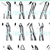 60 New Extracting Forceps Extraction Dental Instruments