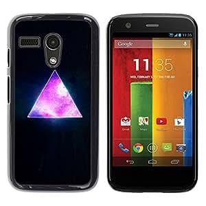 Qstar Arte & diseño plástico duro Fundas Cover Cubre Hard Case Cover para Motorola Moto G1 / X1032 ( Pyramid Space Cosmos Galaxy Universe Triangle)
