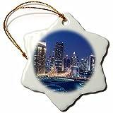 3dRose Danita Delimont - Cities - UAE, Downtown Dubai. Dubai Mall - 3 inch Snowflake Porcelain Ornament (orn_277101_1)