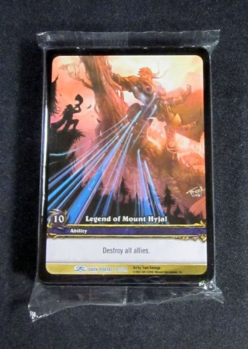 (25) World of Warcraft WoW TCG Legend of Mount Hyjal Dark Portal Promo Card Rare (Warcraft Portal Tcg Dark)