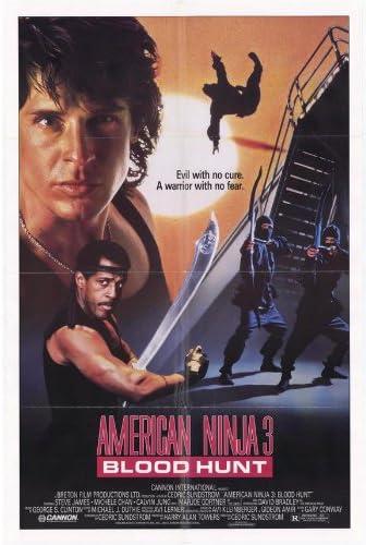 Amazon.com: American Ninja 3 Blood Hunt Poster 27x40 David ...
