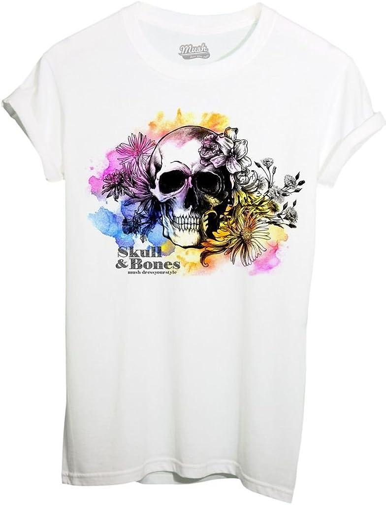 Mush by Dress Your Style iMage T-Shirt Teschio E Ossa