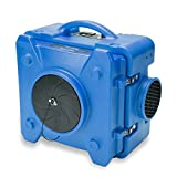 BlueDri BD-AS-550-BL Blue Air Scrubber HEPA Air Filtration System Negative Air Machine Airbourne Air Cleaner HEPA Air Scrubber