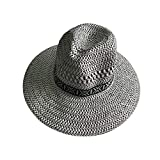 Spring Summer Men's Woman Lifeguard Foldable Sun Hat Woven Farmer Cool Lightweight Straw Hat