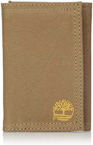Timberland Men's Nylon Trifold Wallet