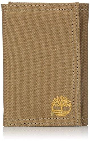 Timberland Men's Trifold Nylon Wallet, Khaki, One Size