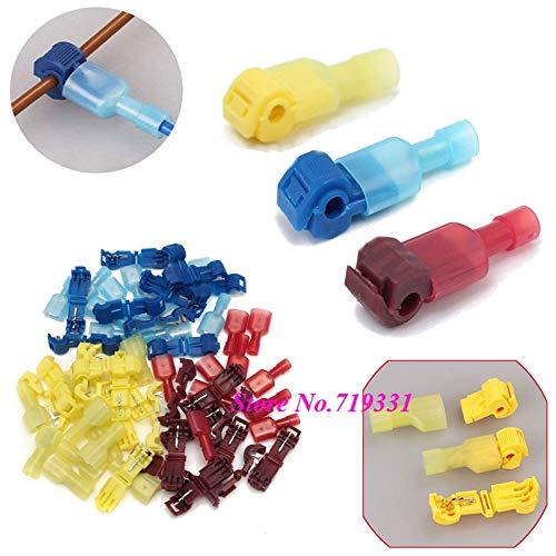 Davitu Quick Splice Scotch Lock Wire Terminals Connectors Electrical Crimp Cable Snap - (Color: Blue, Package: 50pairs)