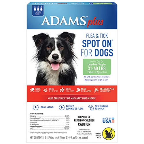 Adams Plus Flea and Tick Spot On for Dogs
