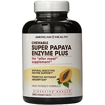 Amazon.com: Puritans Pride Chewable Super Papaya Enzyme Plus ...