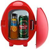 SMETA 12V Mini Truck Fridge Auto Beverage Milk Cooler Warmer Portable Desk Refrigerator,110V,4L