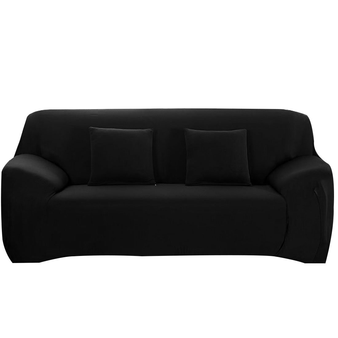 Amazon: Uxcell Stretch Sofa Slipcover Sofa Covers 3 Seater Protector  Couch Covers Featuring Soft Form Fit Slip Resistant 74-90 Inches Chair  Covers Black