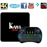 Android 6.0 TV Box,MaQue KM8 PRO Amlogic S912 2G RAM 8G Flash Smart Media Player TV Box Octa Core Smart 4K TV BOX