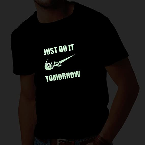lepni.me Shirts For Men Just Do It Tomorrow - Workout Tops With Funny  Sayings, Parody Slogan: Amazon.co.uk: Clothing