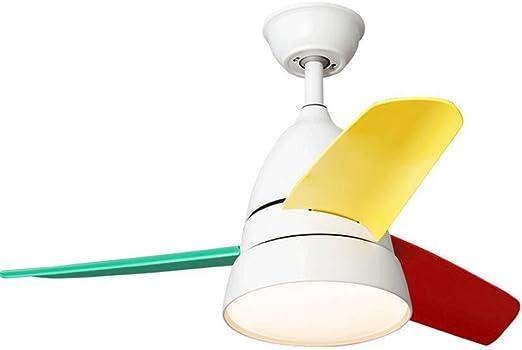 Ventilador de Techo Luz Led Creativo Ventilador Luz Habitación para niños Restaurante Dormitorio Lámpara Simple Modern Fan Chandelier: Amazon.es: Hogar