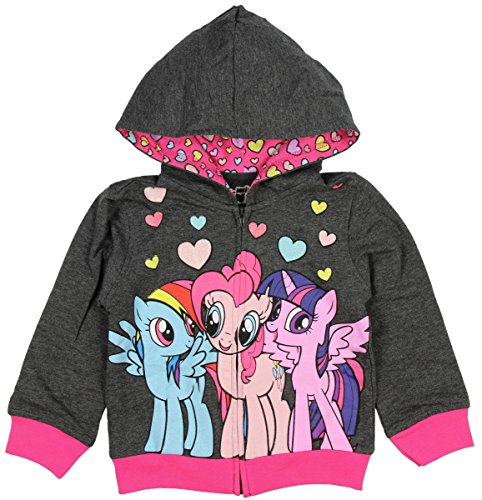 My Little Pony Little Girls Hoodie Rainbow Dash Pinkie Pie Twilight Sparkle 3T