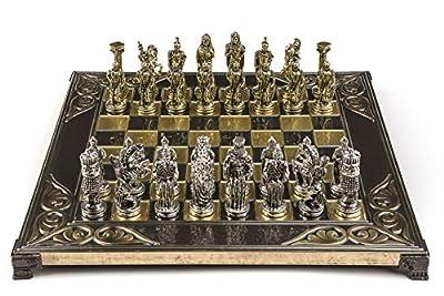 Marinakis Handmade Alexander Metal Chess Set In Wooden Box